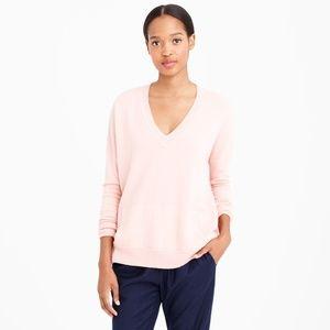 J. CREW Italian Cashmere Boyfriend Sweater Pink L9